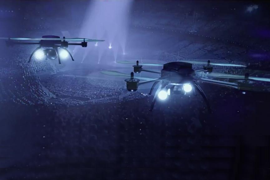 Впервые в мире! Цирк с участием дронов