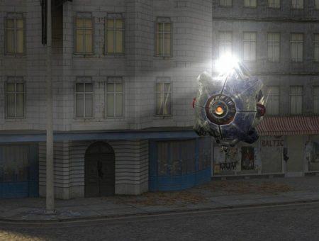 Копия дрона City Scanner из Half-Life 2