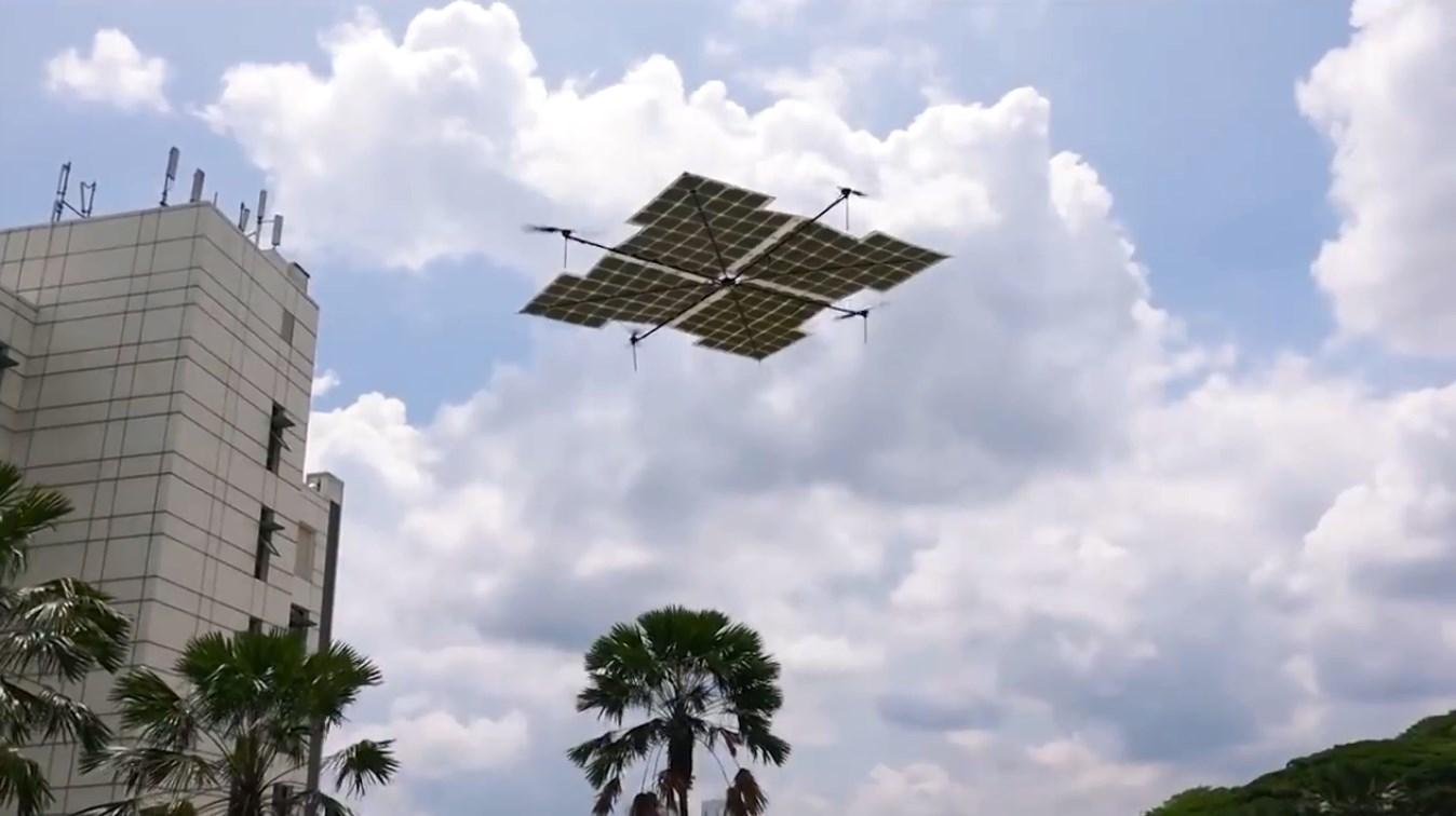 Дрон на солнечных батареях