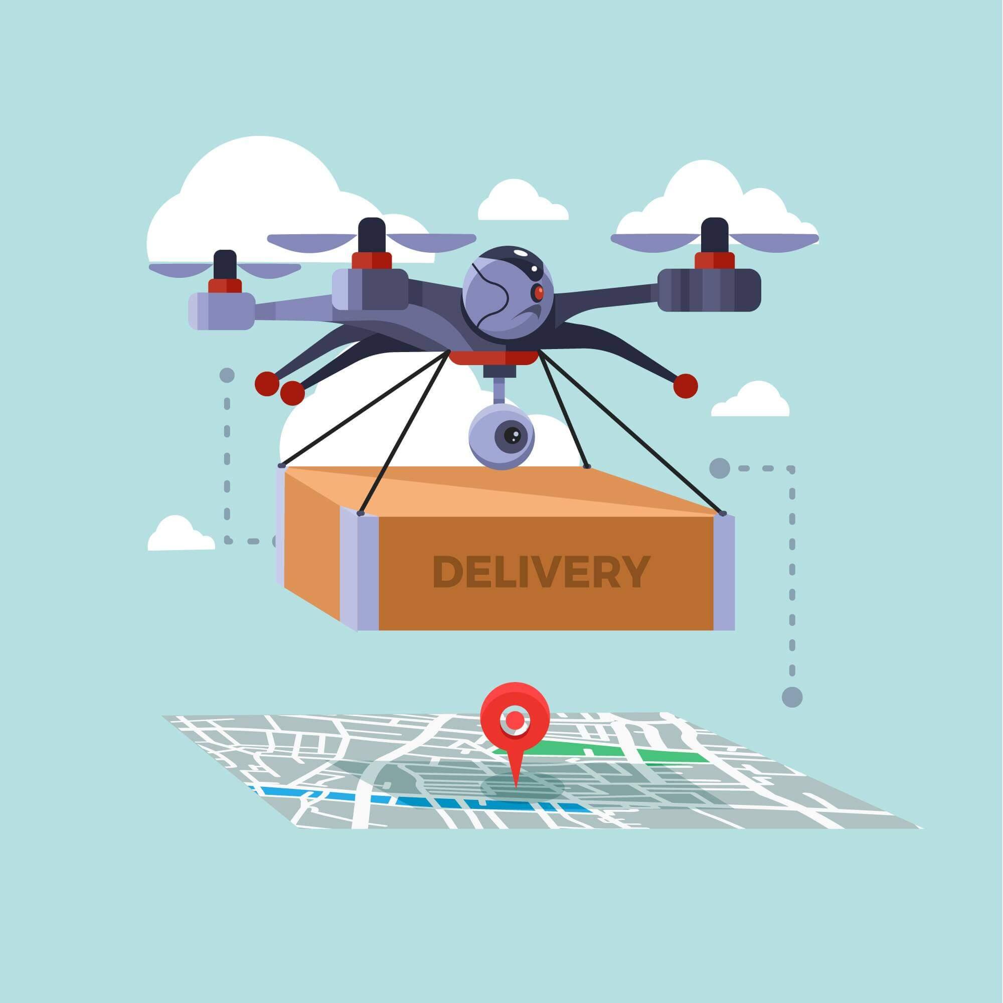 Uber тестирует доставку еды дронами